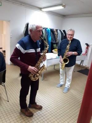 Michel et Francis nos super musiciens